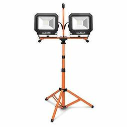Tacklife 10000 Lumen Tripod LED Work Light with Two-Head Tot