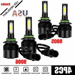 4PCS Combo H7 + H7 LED High Low Beam Headlight Kit Fog Bulbs