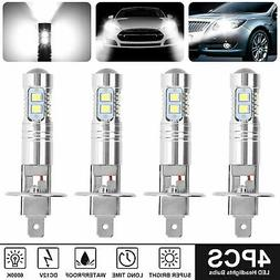 4PCS Xenon H1 CREE LED Headlight Fog Driving Light Bulbs 600