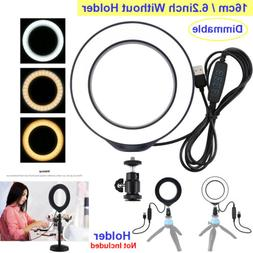 6.2 inch USB 3 Modes Dimmable LED Ring Video Lights Cold Sho
