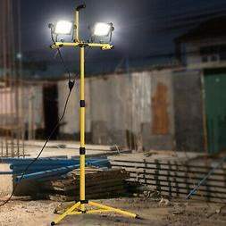 8,000 Lumen LED Work Lights Dual Head Weather Resistant with