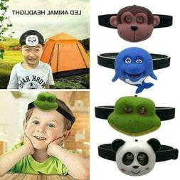 Child Animal Headlight USB Rechargeable LED Head Lamp for Ca