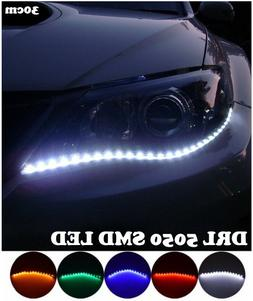 DRL 3528 SMD LED Daytime White Running Lamp Car Waterproof F