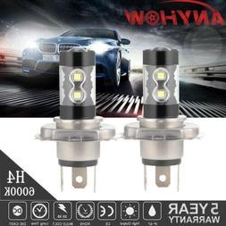 H4 9003 HB2 100W LED Fog Lights High-Low Beam Headlight 6000