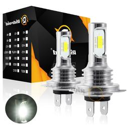 H7 LED Headlight Bulbs Conversion Kit Hi/Lo Beam 80W 8000LM