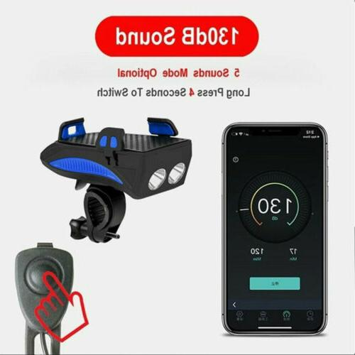 4in1 USB Rechargeable Bike Horn Phone Bank