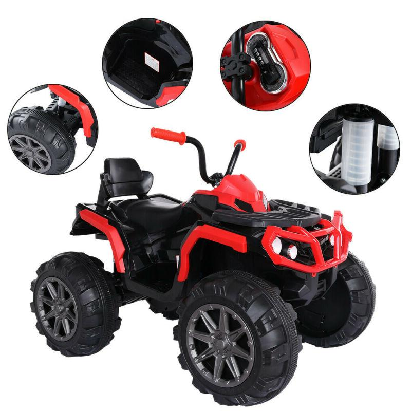 4WD Electric On Police Remote Control LED Black