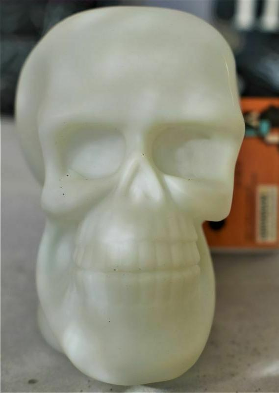 LED Skull Colors HEAD STONES Halloween Party Home