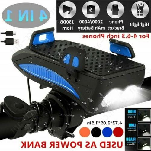 4in1 led usb rechargeable bike light bicycle