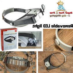 Jewelers Head Led Magnifier Magnifying Light Headlight Band