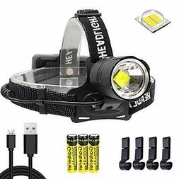 LED XHP70 Headlamp 6000 Lumens Super Bright USB Rechargeable