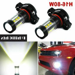 Pair 5202 H16 LED Headlights Fog Lights DRL Bulbs Kit PS24WF